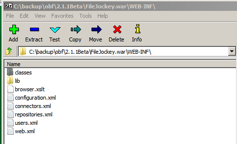 FileJockey.war opened in 7Zip