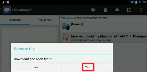 Choose File and Download