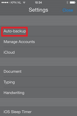 Notability Settings Auto Backup