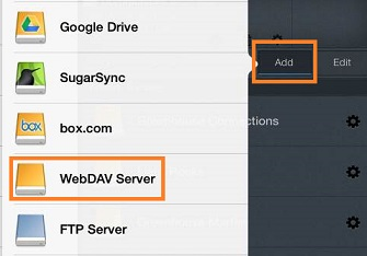 Add WebDAV Server in Goodreader