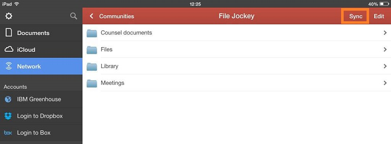 Press Sync to synchronize the File Jockey community to PDF Expert
