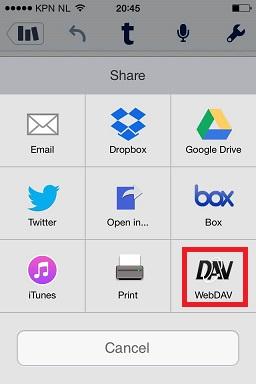 Share with WebDAV