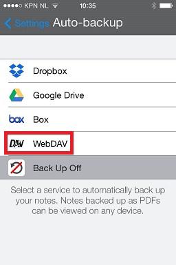 Auto Backup to WebDAV