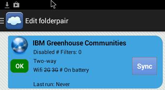 Folderpair created