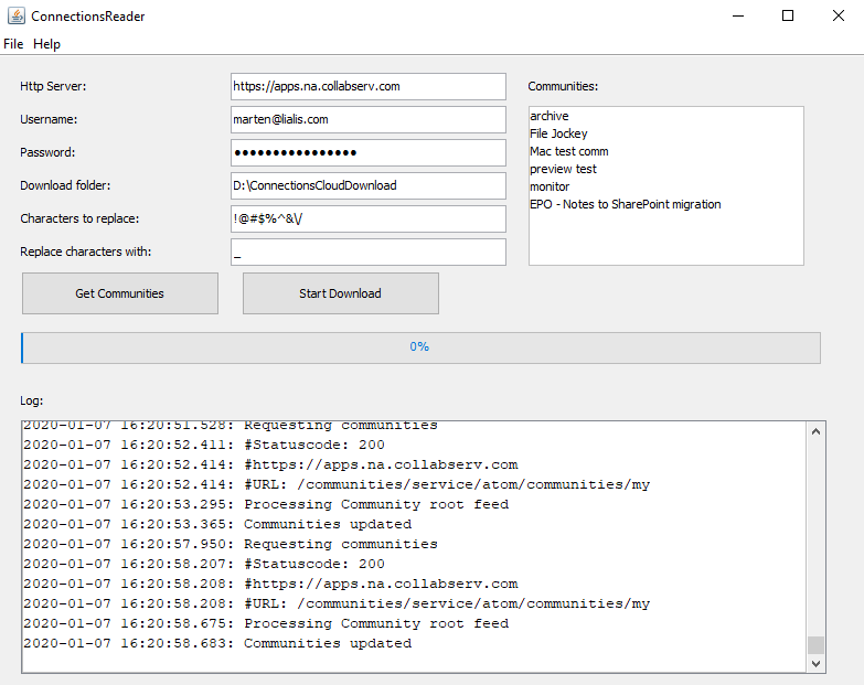 IBM Connections Files Attachments Dowloader - setup