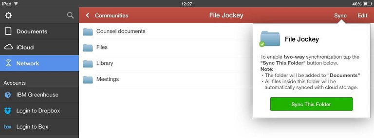 Press Sync this Folder
