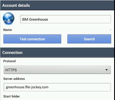android foldersync webdav login