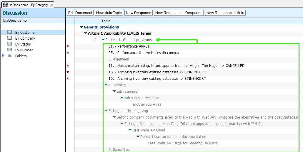 lotus notes teamroom response docs