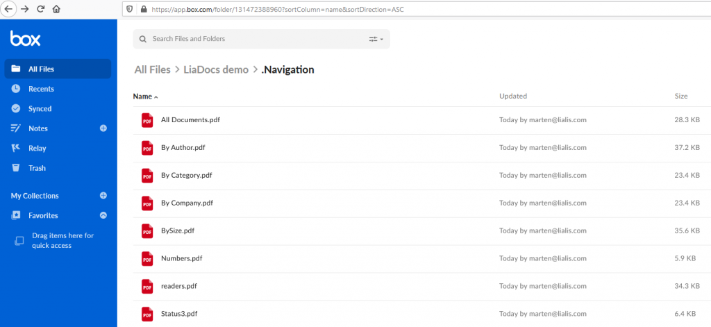 Lotus Notes conversion to BOX Notes views renderd to PDF files