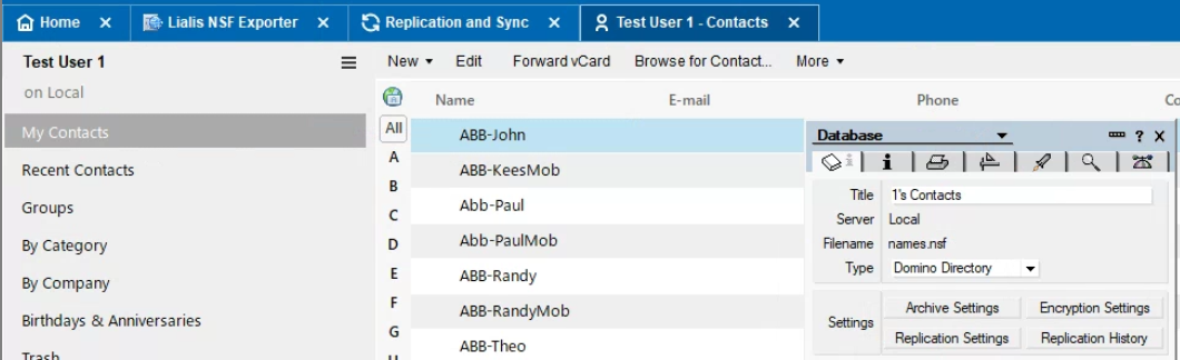 convert nsf to pst notes client contacts