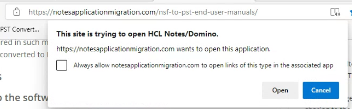 nsf to pst notes app link